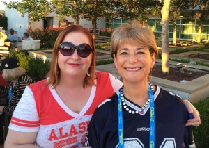 Liz Clark - the Conference Chair at their fun Tailgate Party!