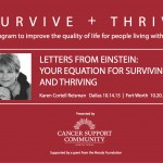 "Karen Speaks Tonight! ""Letters From Einstein – Your Equation for Surviving & Thriving"""